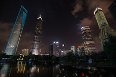 Shanghai's Financial ditrict night view Royalty Free Stock Image