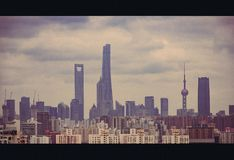 Shanghai`s landscape royalty free stock photos
