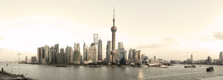 Shanghai's modern architecture cityscape panoramic photo skyline Stock Photography