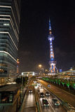 Shanghai's night view Stock Photos
