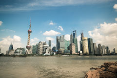 Shanghai scenery in the bund riverside Stock Photography