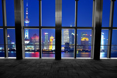 Shanghai scenery looking out the window Stock Photo