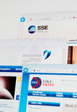 Shanghai, Shenzhen and Hong Kong Stock Exchange home pages Stock Photo