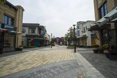Shanghai shopping village royalty free stock image