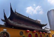 shanghai si för jufo för buddha porslinjade tempel Fotografering för Bildbyråer