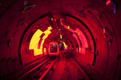Shanghai sight seening tunnel  under  river Royalty Free Stock Images