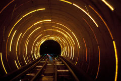 Shanghai sight seening tunnel  under  river Royalty Free Stock Photos