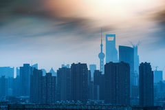 Shanghai silhouette at night Royalty Free Stock Photography