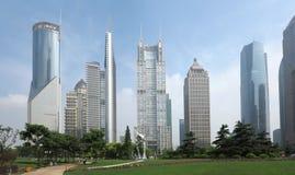 Shanghai Skylineï ¼ Kina Fotografering för Bildbyråer