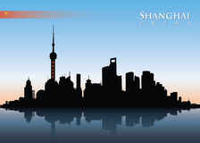 Shanghai skyline. Vector illustration of Shanghai city royalty free illustration