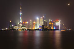 Shanghai skyline. Shanghai, Pudong skyline at night Stock Image