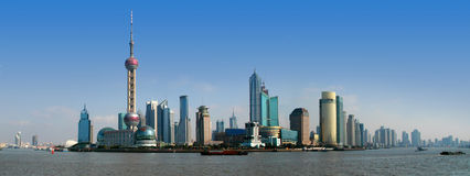 Free Shanghai Skyline Royalty Free Stock Images - 3015349