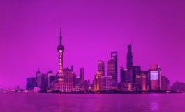 Shanghai-Skyline Stockfotos