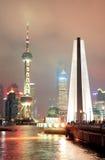 Shanghai Skyline And Monument Royalty Free Stock Photo