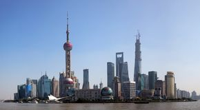 Shanghai Skyline, China Stock Photo