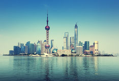 Shanghai skyline, China Stock Images