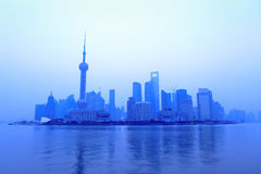 Shanghai skyline at dawn Royalty Free Stock Photos