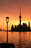 Shanghai Skyline dawn Royalty Free Stock Image