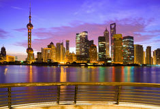Shanghai skyline at dawn Royalty Free Stock Photo