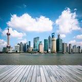 Shanghai skyline at daytime Stock Images