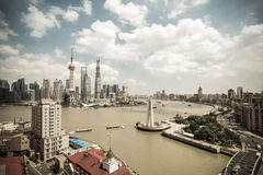 Shanghai skyline at daytime Stock Photography