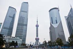 Shanghai, skyline de Pudong Foto de Stock
