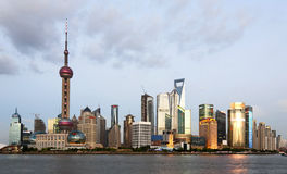 Shanghai Skyline at Dusk Royalty Free Stock Image