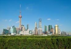 Shanghai skyline. Shanghai landmark skyline at city landscape Stock Photography