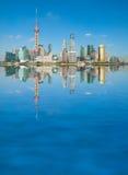 Shanghai skyline. Shanghai landmark skyline at city landscape Stock Images