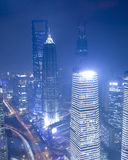 Shanghai Skyline at lujiazui business district Stock Image