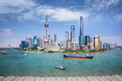 Shanghai skyline with modern urban skyscrapers Stock Photography