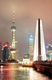 Shanghai skyline and Monument Royalty Free Stock Photo