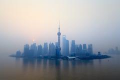 shanghai skyline in morning,China Stock Photos