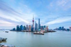 Shanghai-Skyline am Nachmittag stockfotografie