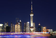 Shanghai skyline at New night Royalty Free Stock Image