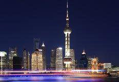 Shanghai skyline at New night Royalty Free Stock Image