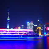 Shanghai skyline at night Royalty Free Stock Photography