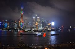 Shanghai skyline. At night Stock Photography