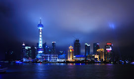 Shanghai skyline at night Stock Image