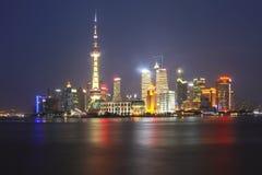 Shanghai skyline at night. Shanghai, Chaina - Jul 5, 2012 : Shanghai skyline at night Stock Image