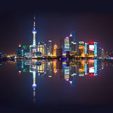 Shanghai skyline by night Royalty Free Stock Image