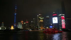 Shanghai skyline at night   video stock video footage