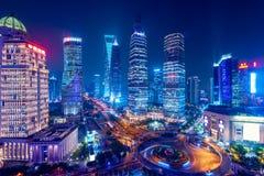 Shanghai Skyline at night. Royalty Free Stock Photography