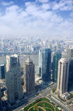 Shanghai skyline overlooking Stock Photos