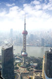 Shanghai skyline overlooking Royalty Free Stock Photography