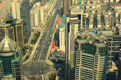 Shanghai skyline overlooking Stock Photography