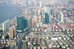 Shanghai skyline overlooking Royalty Free Stock Photos