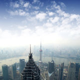 Shanghai skyline overlooking Royalty Free Stock Image
