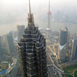 Shanghai skyline overlooking Stock Images