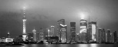 Shanghai skyline panorama Stock Photography